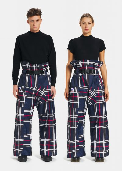 Pantaloni antipioggia Tartan